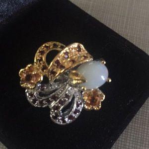 Absolutely SS925 14KGold Opal Garnet Sapph…